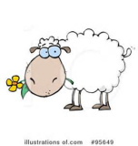 Sheep with Flower color