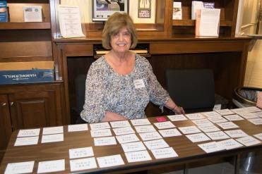 Carol H with nametags