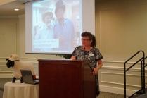 Julie at podium