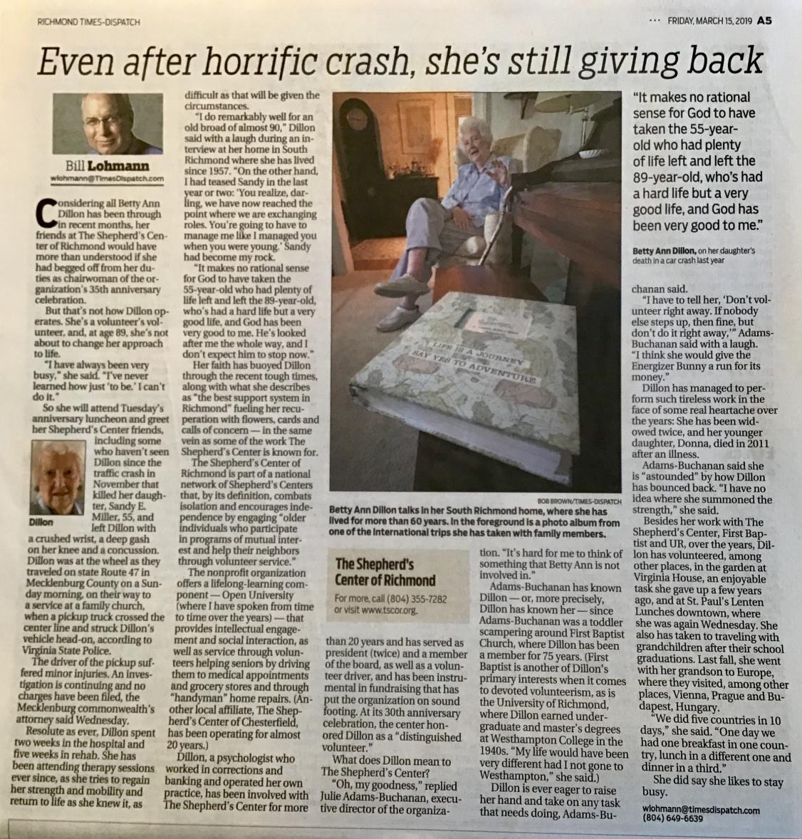 Lohmann article about Betty Ann Dillon