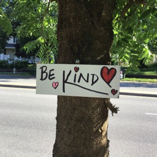 Be Kind close up