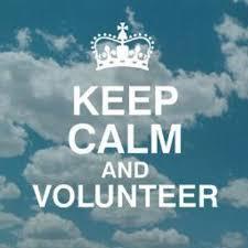 keep calm and volunteer